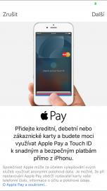 Přidání karty boom do Apple Pay.
