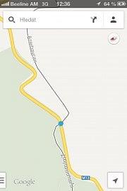 Hranice mezi Arménií a Ázerbájdžánem podle map Google fakticky neexistuje, cesta vede až do Náhorního Karabachu. Překročením tohoto bodu se dopouštíte trestného činu podle ázerbájdžánského práva. Autor stojí metr od hranice na území Arménie.
