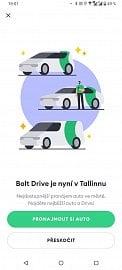 Přes mobilní aplikaci Bolt si lze pronajmout/půjčit auto. Zatím jen v Tallinu. (05/2021)
