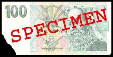 Běžně poškozená bankovka: Bankovka, které chybí více než 20 mm v růžku. Fyzická osoba: Může přijetí odmítnout. Právnická osoba a směnárník: Může přijetí odmítnout. Úvěrová instituce provádějící pokladní operace: nevrací zpět do oběhu a předávají ji ČNB.