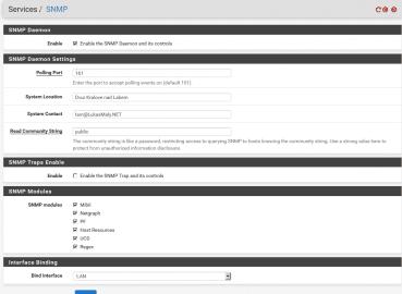 pfSense SNMP configure
