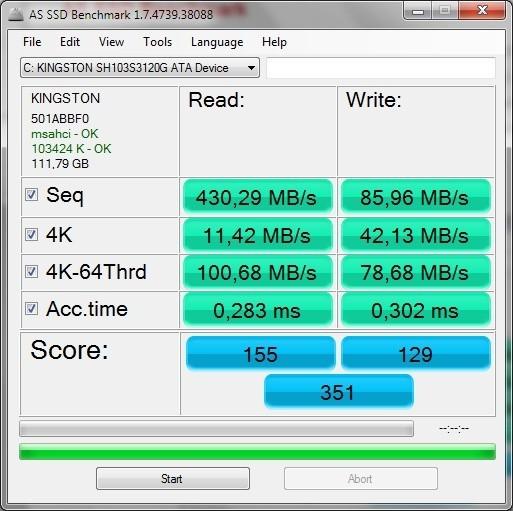 AS SSD Benchrmark pořádně prověří výkon vašeho SSD disku