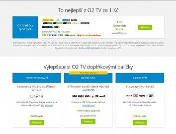 Doplňující balíčky O2 TV