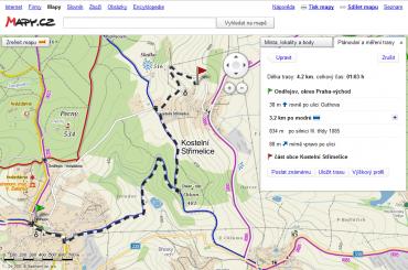 Plánovač trasy pro pěší