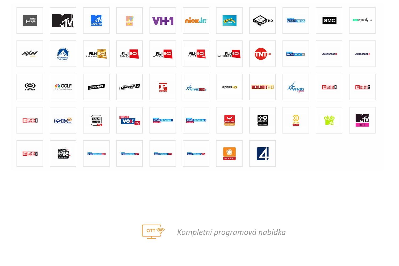 Programová nabídka OTT Cyfrowy Polsat