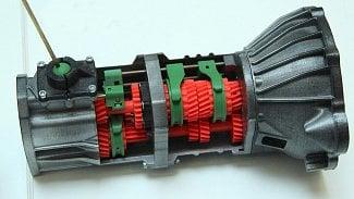 Převodovka 3D tisk