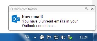 outlook notifier popup
