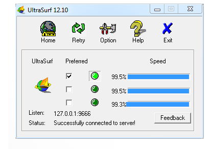 Pomocí UltraSurf se skryjete za zahraniční proxy jedním kliknutím