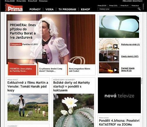 Nová podoba hlavní webové stránky Prima Group