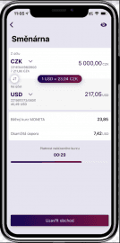Směna peněz ve Smart Bance.