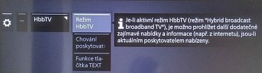 HbbTV není třeba nikde povolovat a je po instalaci okamžitě funkční.