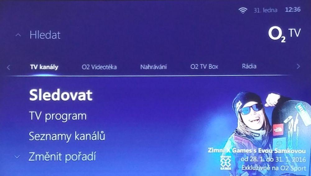 O2 TV Air M - Menu