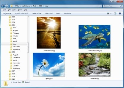 PhotosTree zvládá přesunout vaše fotografie do složek podle data pořízení