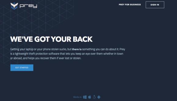 Projekt Prey poskytuje řadu nástrojů pro sledování a případné uzamknutí ukradeného notebooku