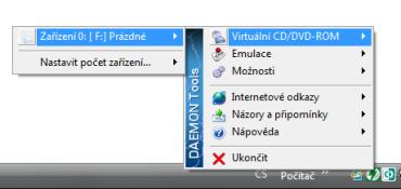 <p>Daemon tools - přiřazení obrazu k virtuální mechanice</p>