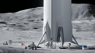 SpaceX na Měsíci