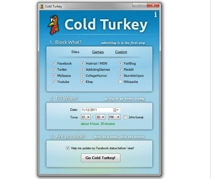 Stop prokrastinaci pomocí Cold Turkey