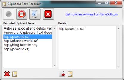 Clipboard Text Recorder si pamatuje veškerý obsah schránky