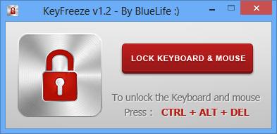 KeyFreeze zamkne klávesnici a myš
