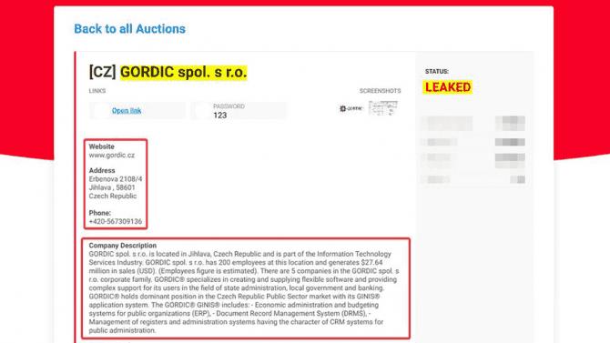 [aktualita] Uniklá interní data české firmy Gordic jsou údajně na darknetu, řeší to NÚKIB