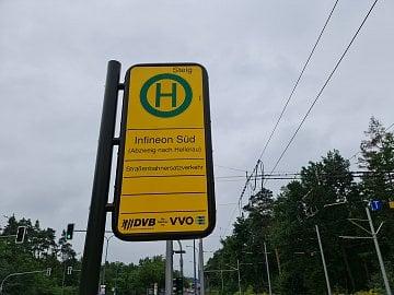 Zastávka Infineon v Drážďanech