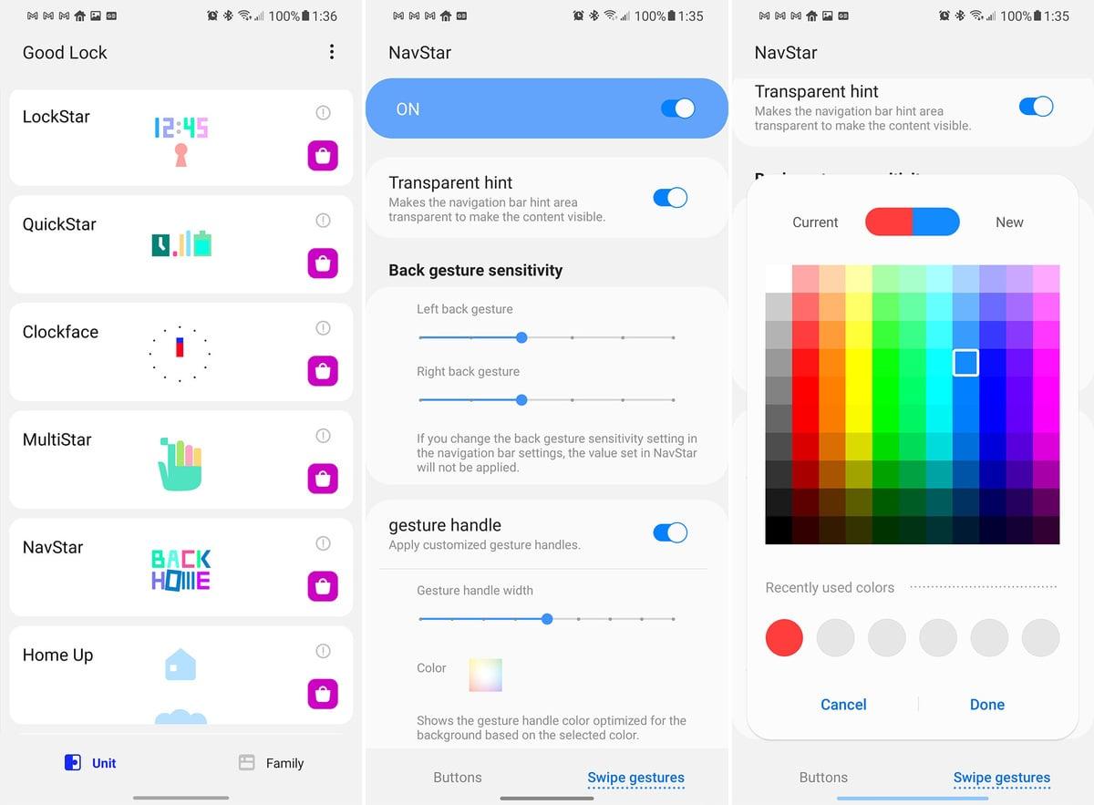 Aplikace Navstar od firmy Samsung nabízí daleko větší možnosti přizpůsobení vzhledu prostředí operačního systému Android 11.