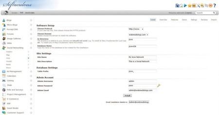 Budování vlastní sociální sítě s Jcow - krok 1.