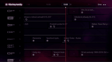 Programový průvodce Vodafone TV