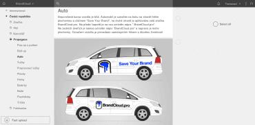 Webové prostředí BrandCloudu.