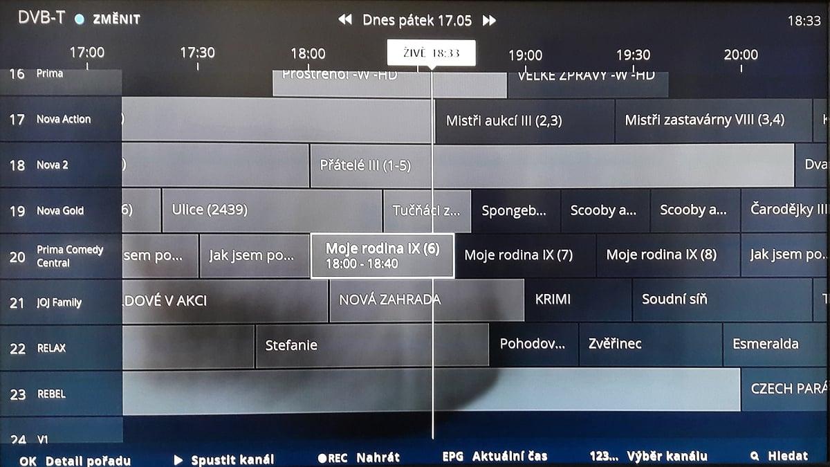 EPG na O2 TV