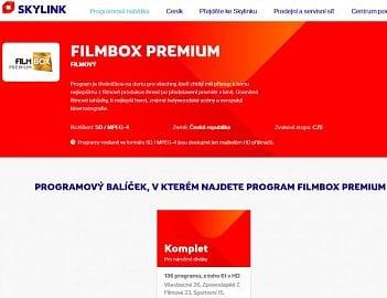 """Filmbox Premium je u Skylinku standardně v SD. Do lednové """"Ochutnávky"""", ale firma prý pustí HD verzi."""