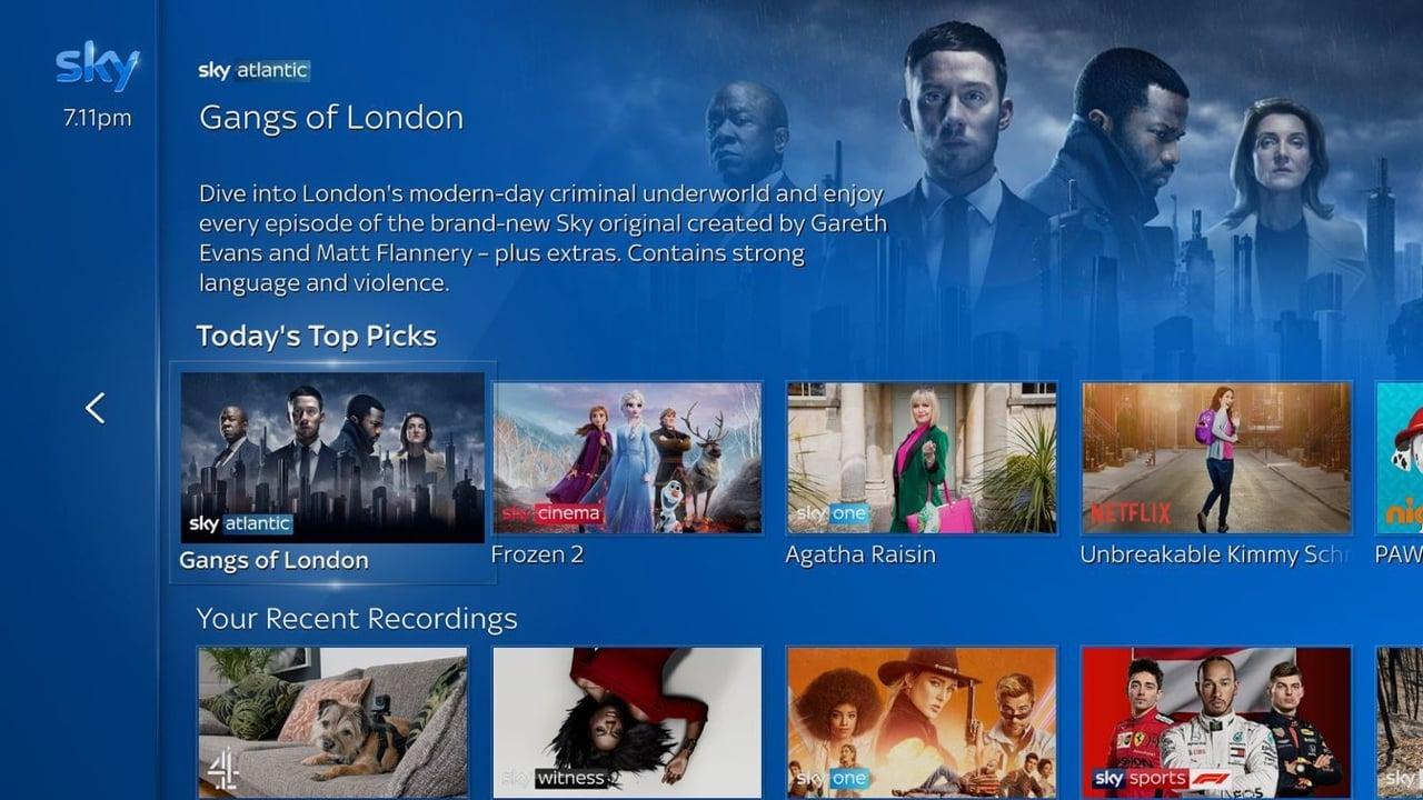 Ukázky uživatelského rozhraní Sky Q po aktuálním upgrade