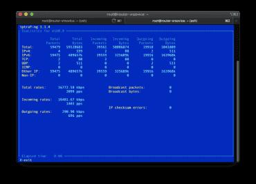 Aktuální rychlost stahování po 6in4 (všimněte si řádku Other IP, to je tunelovací provoz).