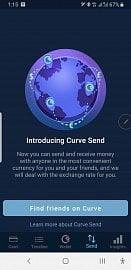Služba Curve Send vás vítá.