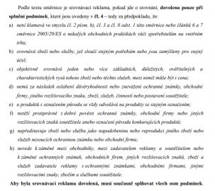 Právní úprava srovnávací reklamy z analýzy Tomáše Babky.