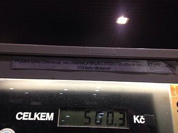 Čerpací stanice sítě PRIM transakční poplatky změnila podle typu karet (to už je v pořádku).(25. 1. 2018)