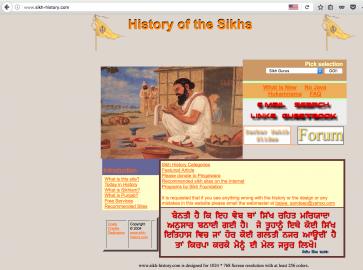 V hlavičce e-mailu najdete i odkaz na web o historii Sikhů.