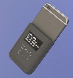 Koncept bezpečnostního batůžku pro iPhone