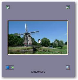 Ikony v okolí náhledu fotografie.