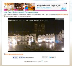Kamera na Staroměstském náměstí v Praze