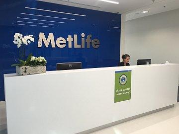 Recepce MetLife pojišťovny.