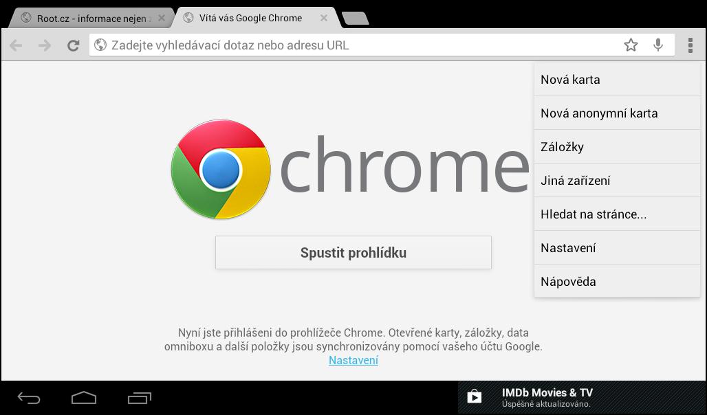 Mobilní Google Chrome