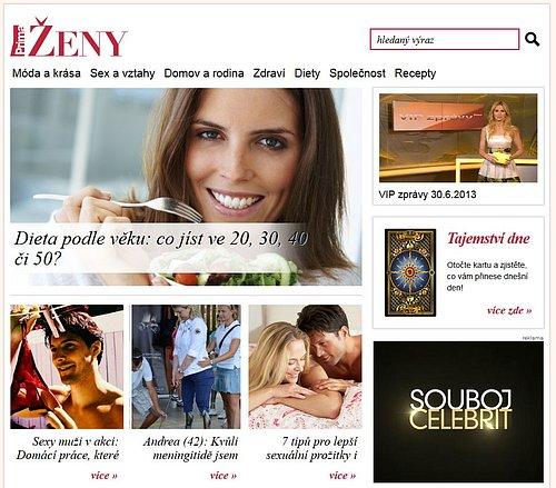 Náhled webu Prima Ženy