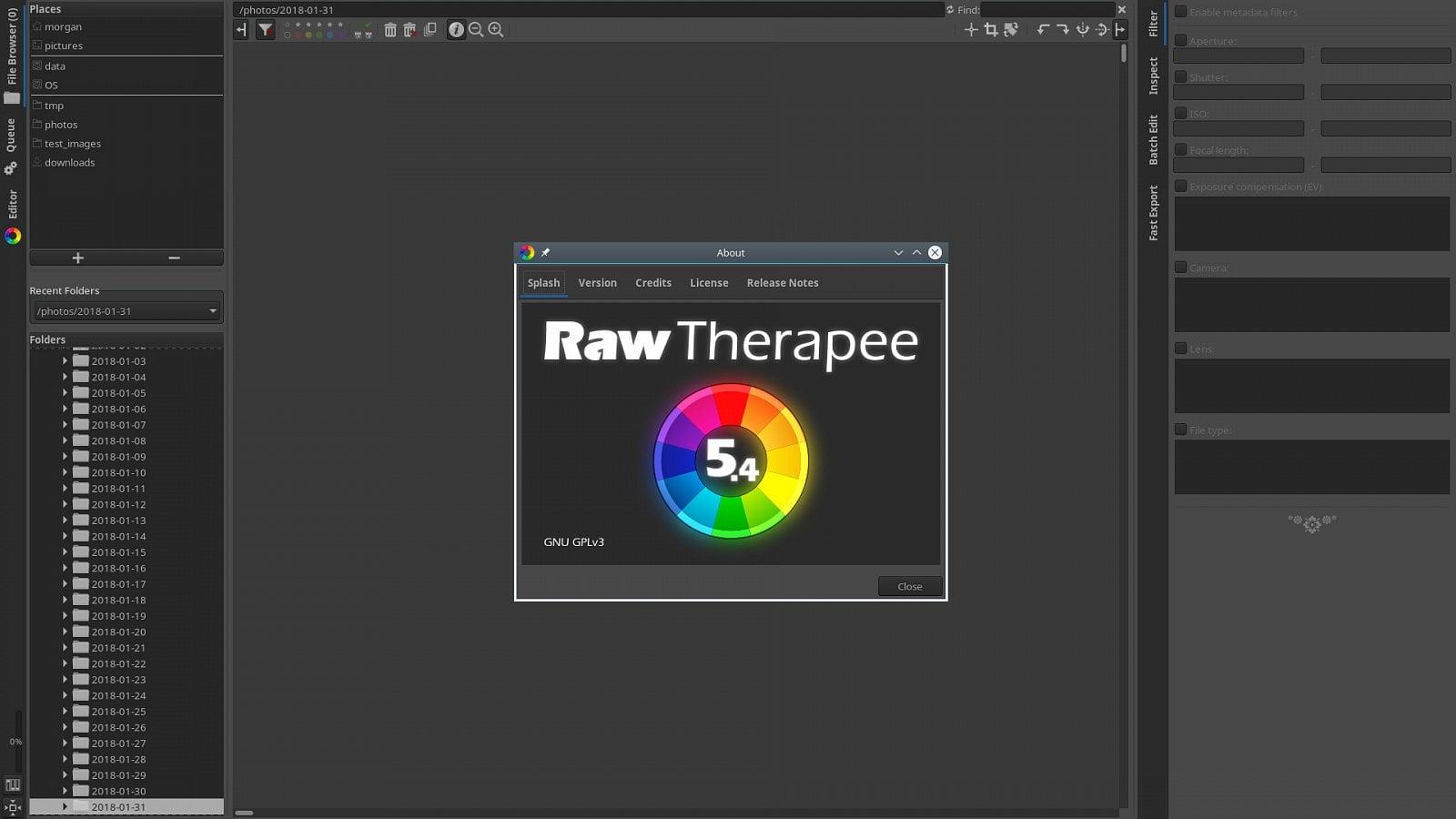 RawTherapee 5.4