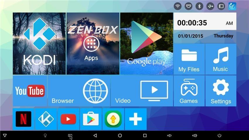 Uživatelské prostředí – Zen Box M3
