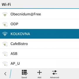 Wi-Fi v restauracích Kolkovna.