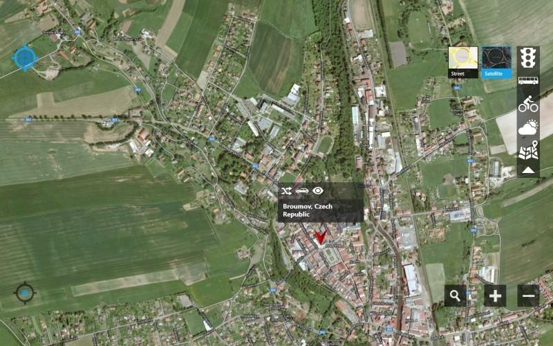 gMaps: Google Mapy pro Windows 8