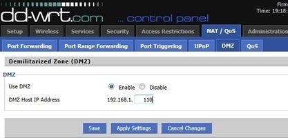 Pokud umístíte počítač do demilitarizované zóny, bude možné k němu z internetu přistupovat ze všech portů.