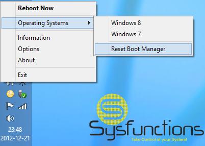 Pomocí Reboot-To se snadno můžete přepínat mezi nainstalovanými operačními systémy