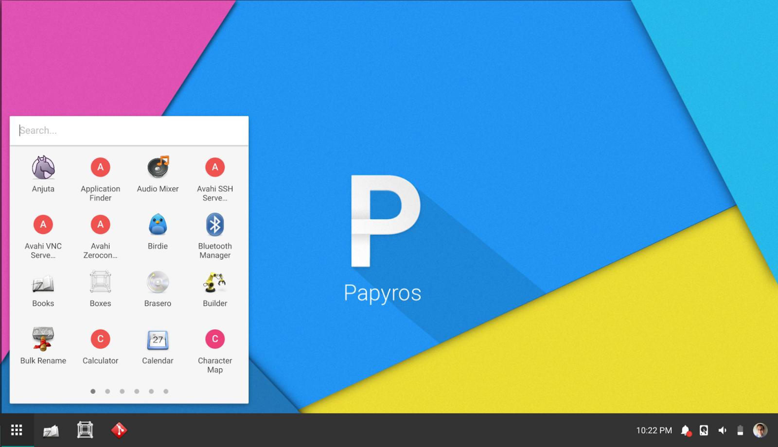 Papyros: ukázka designu